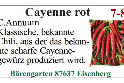 Chilisamen - Cayenne rot