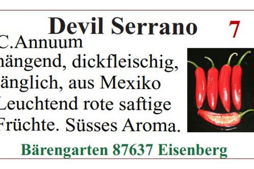 Chilisamen - Devil Serano