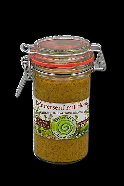 Grober Kräutersenf mit Honig, süß-pikant - 200 g