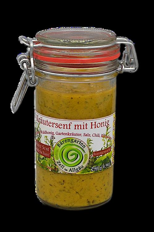 Mittelscharfer Kräutersenf mit Honig - 250 g
