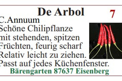 Chilisamen - De Arbol