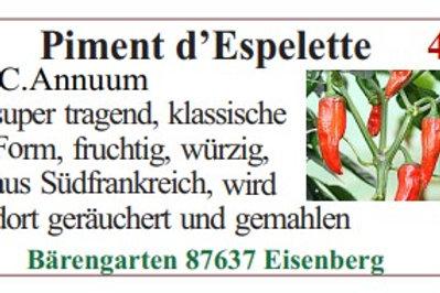 Chilisamen - Piment d'Espelette