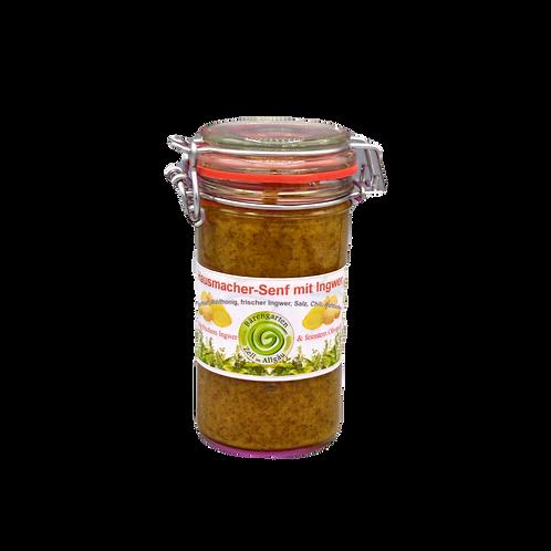 Süßer hausmacher Senf mit Ingwer - 200 g
