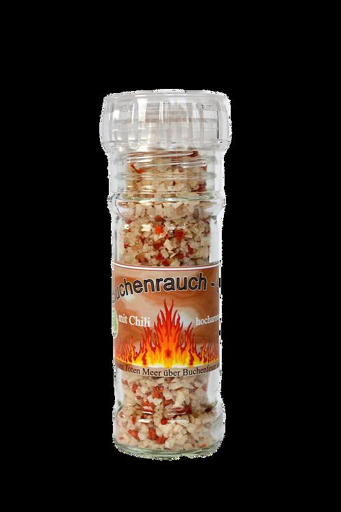 Buchenrauchsalz mit Chili - 80g