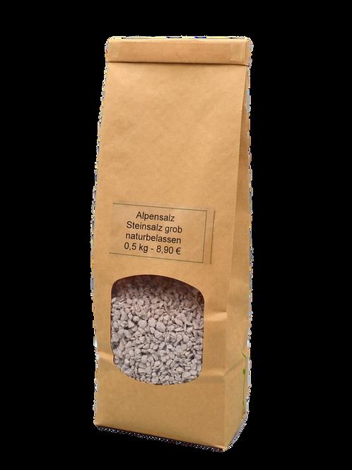 Alpensalz naturbelassen, grob - 0,5 kg