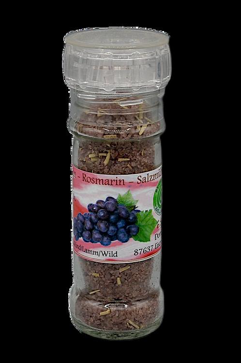 Rotwein-Rosmarinsalz - 80g
