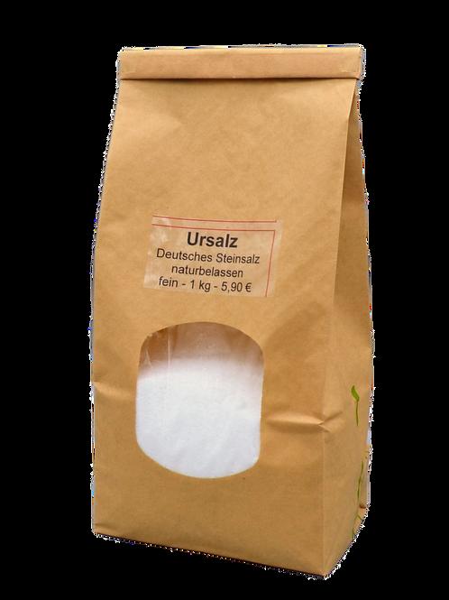 Ursalz – deutsches Steinsalz naturbelassen (fein) - 1kg