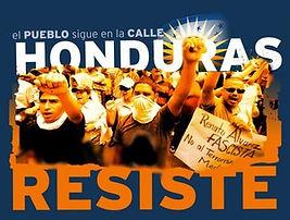 Poster Opposing Honduran Coup