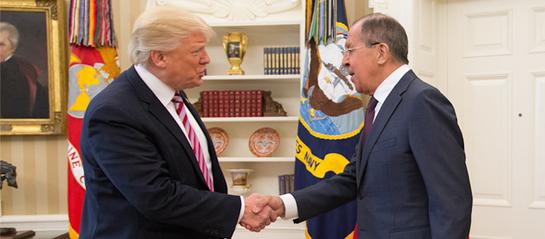 President Trump Greets Sergey Lavrov