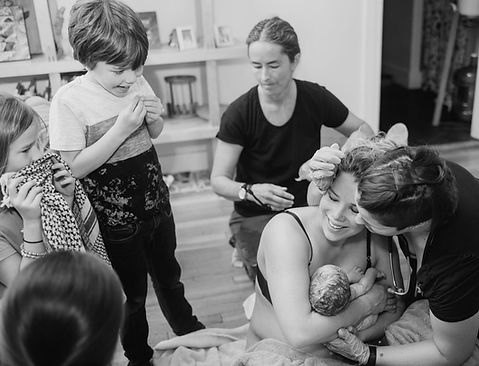 Marli Ivers provides midwifery care for a home birth