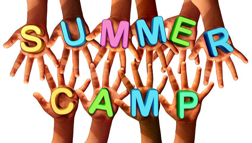 Summer camp kids as diverse school child