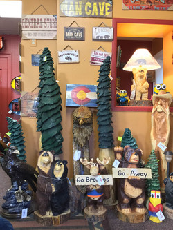 Locally made wood carvings