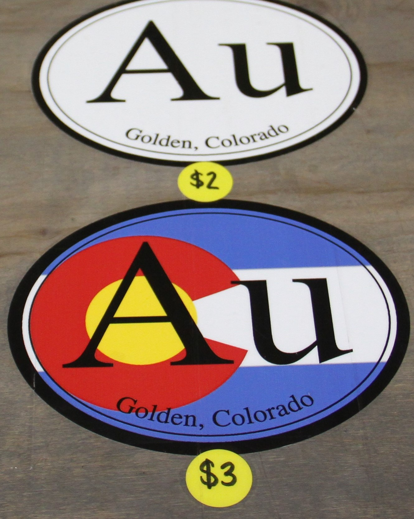 Au Stickers Golden Colorado