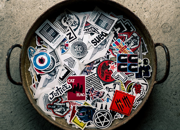 8 Hand Chosen Stickers - Random Love