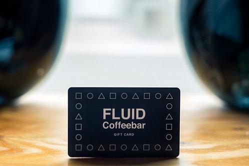 $10 FLUID Coffeebar In- House gift card