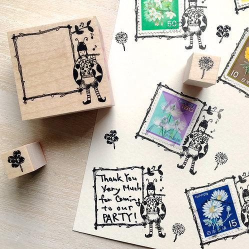 Lady bug boy frame stamp