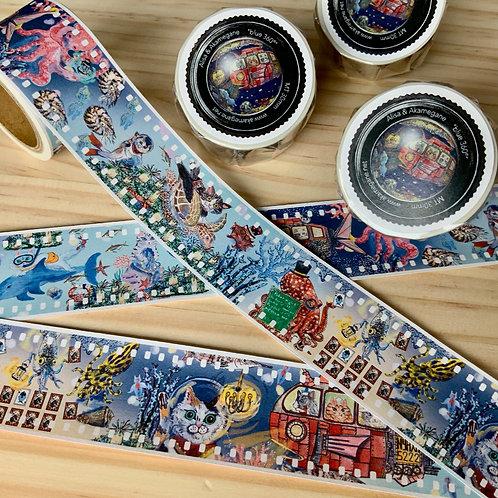 """""""Blue 360°"""" washi tape"""