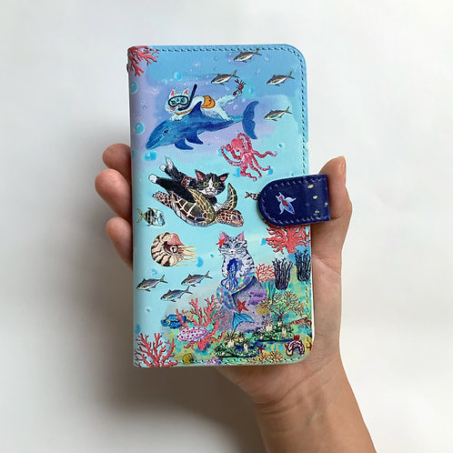 Phone case(Size:M): Day at the blue world