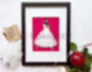 Hourie's bridal keepsake, made with a piece of her wedding dress, by Pokidots! bride.