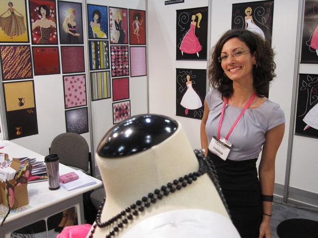Louma El-Khoury, Surtex show 2010, fashion illustration and patterns