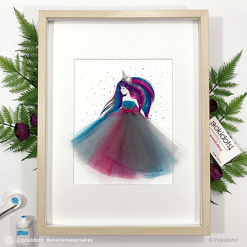 Hand-made unicorn artwork - Unicorn Penelope