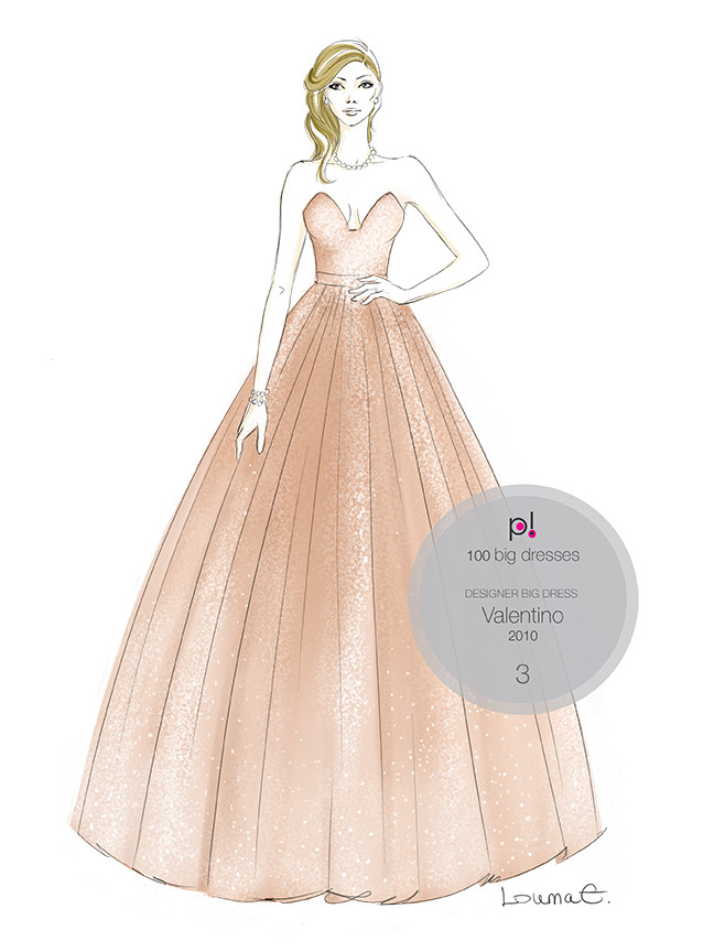 Louma El-Khoury fashion illustration, Valentino sequin dress, fashion print