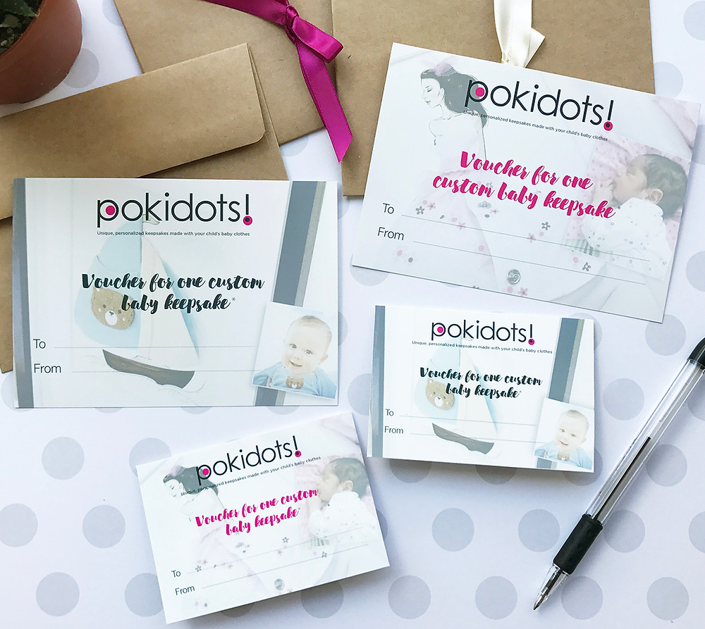 Pokidots! baby keepsake vouchers