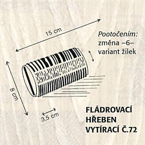 Fládrovací hřeben č.72 šíře 15 cm