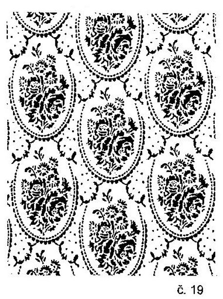 Malířské dekorativní válečky č.19-40