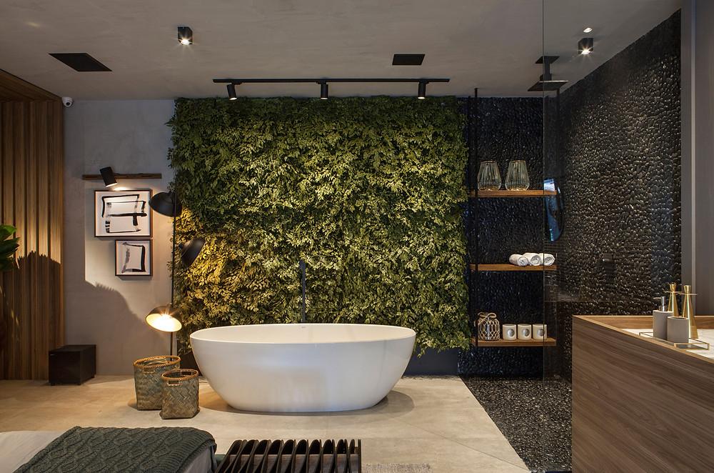 Preserved Vertical Garden bathroom
