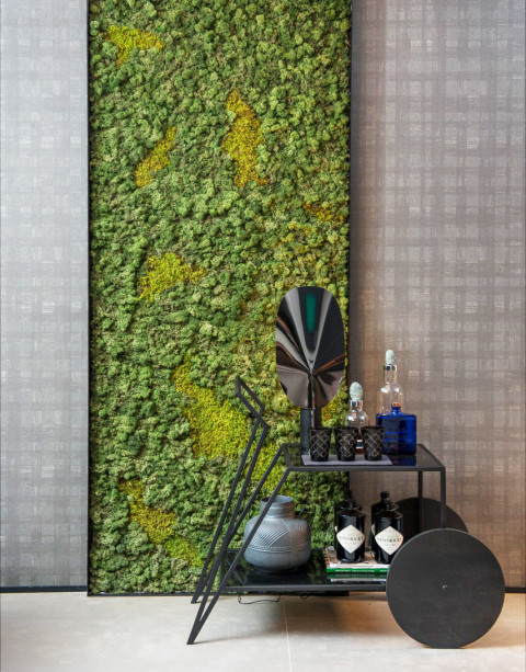 Preserved Moss Panels interior design.