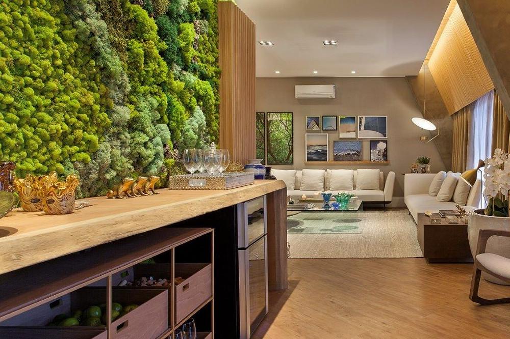 Preserved Moss Vertical Garden interior