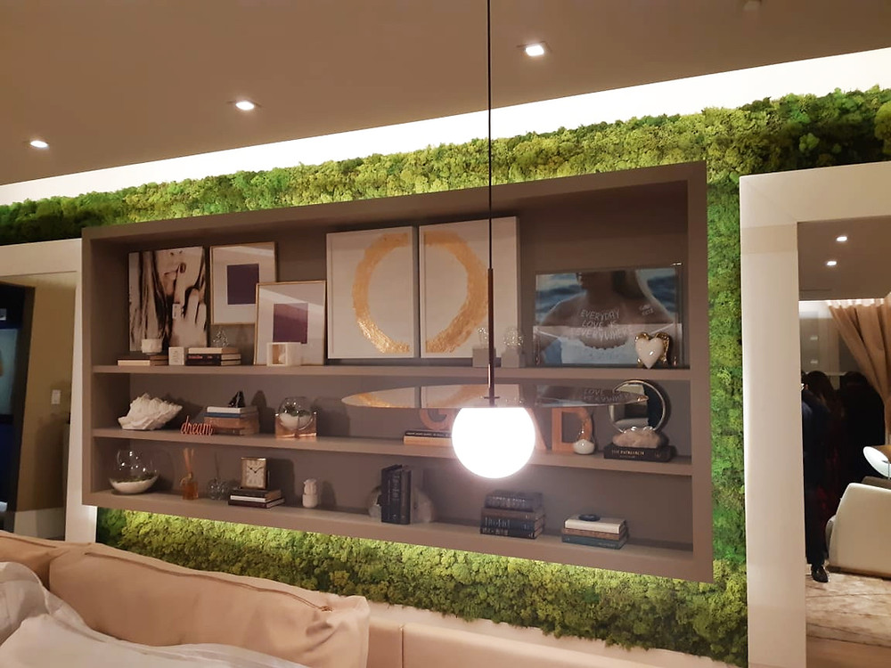 Moss Wall, Green Wall, Accent Wall