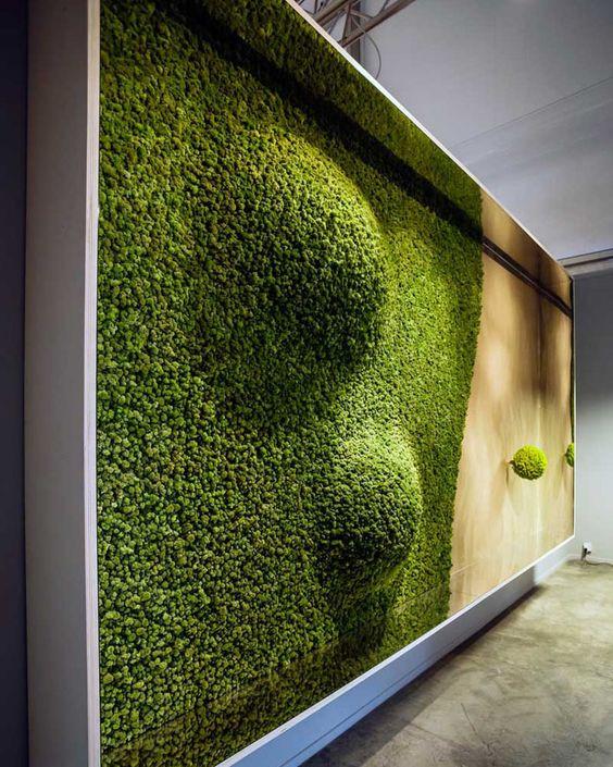Preserved Moss Vertical Garden art