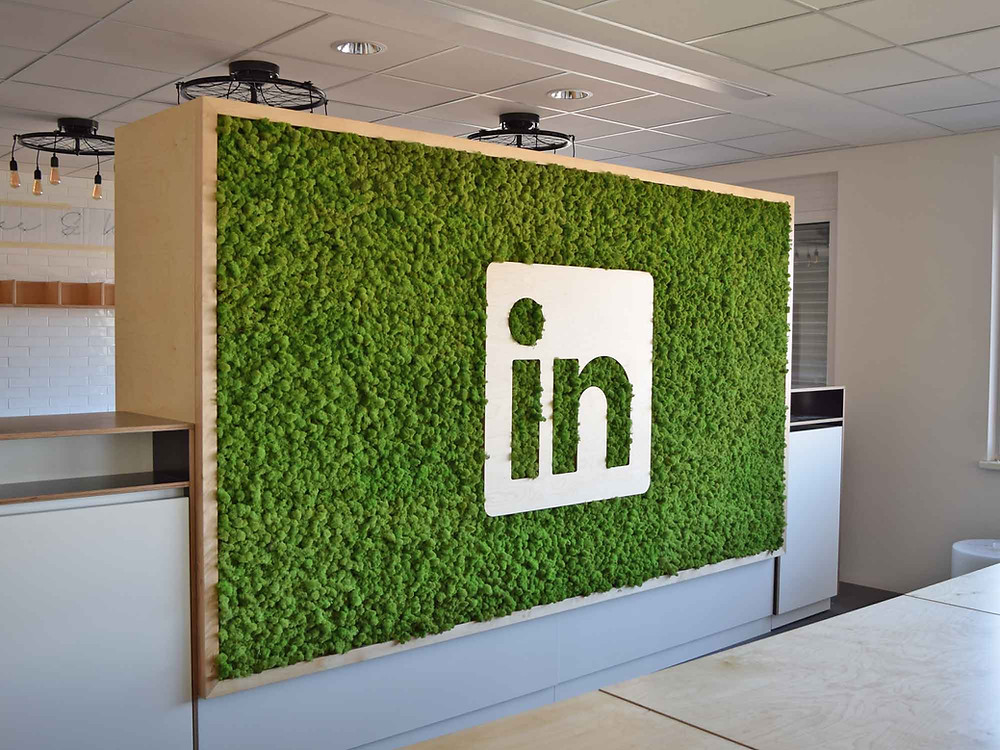 Preserved Moss Vertical Garden LinkedIn logo, branding.