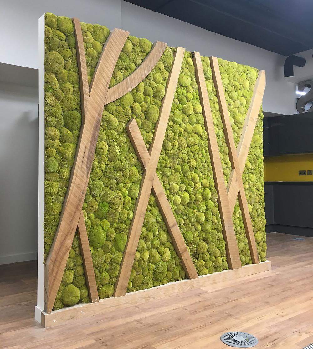 Preserved Moss Panels, wood, art, interior design