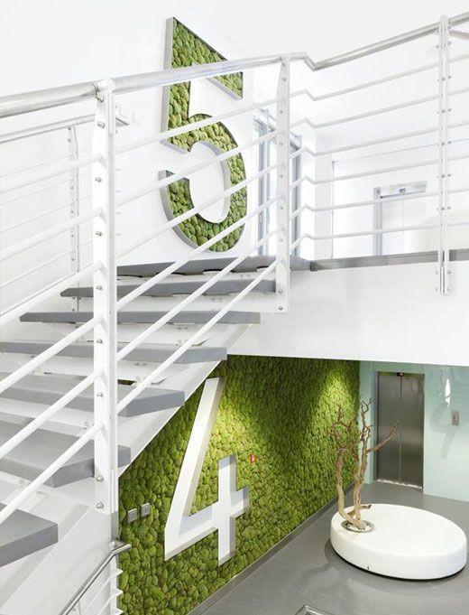 Preserved Moss Vertical Garden floor indicators