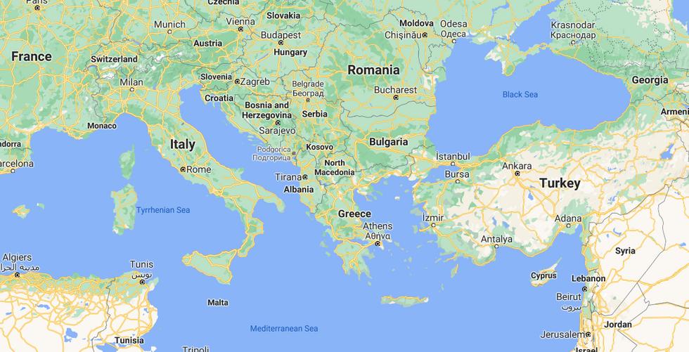 Balkans - Google Maps — Yandex Browser 1
