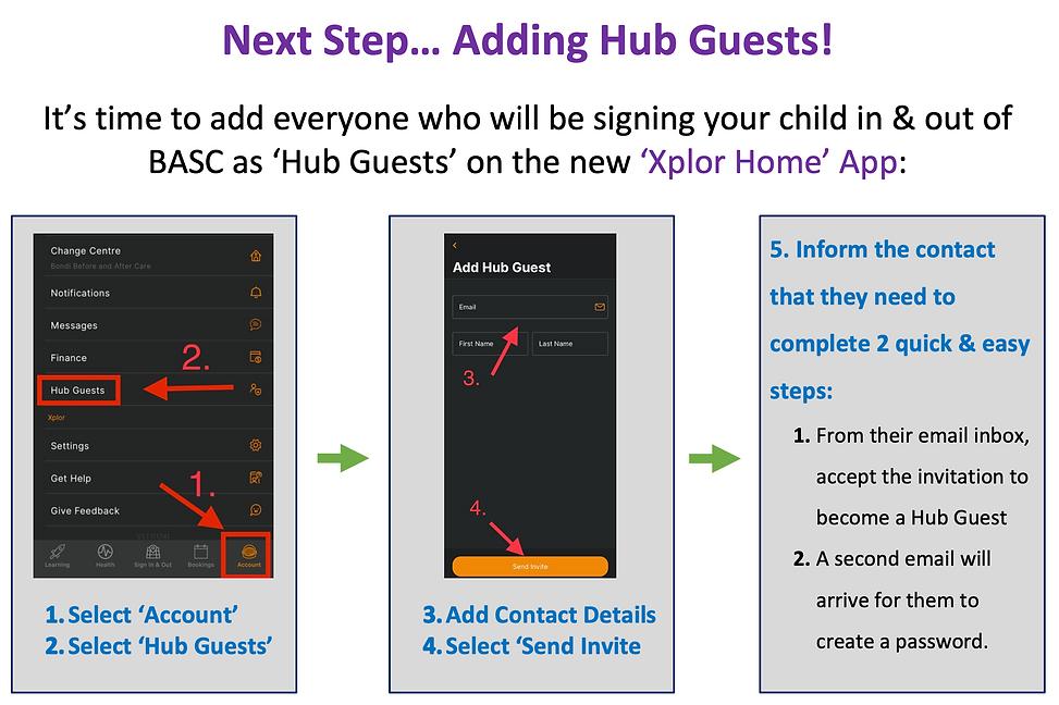 Bondi BASC Adding Hub Guests