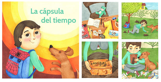 Ilustraciones para Libro de cuentos 60 Aniversario Caja de Previsión de Ingenieros - NCM Publicidad - 2018