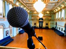 SM58 vocal microphone at Government hous