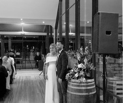 Bride and Groom at Rochford Winery
