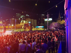 Crowd at main stage Federation Square