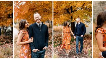 Indianapolis Fall Engagement Photos | Bree & Weston
