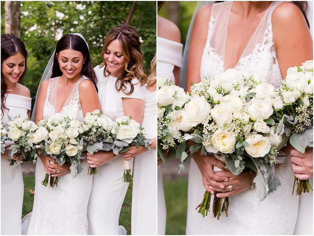 All white wedding flowers