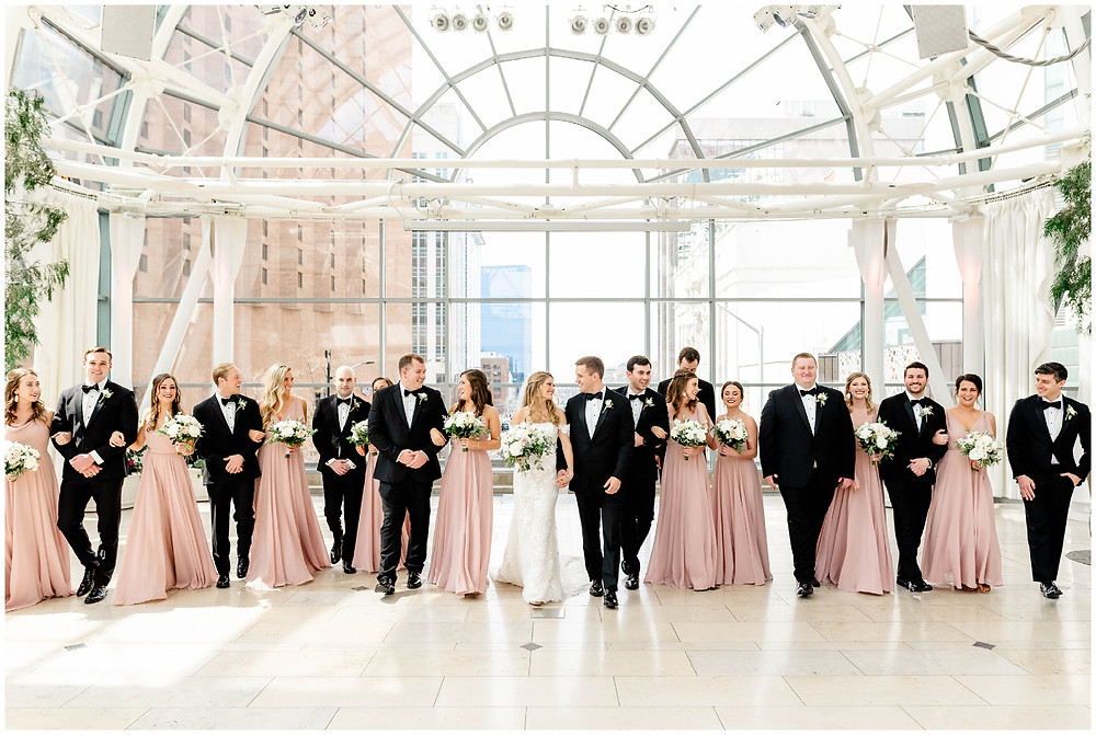 Indianapolis-artsgarden-bridal-party-photos