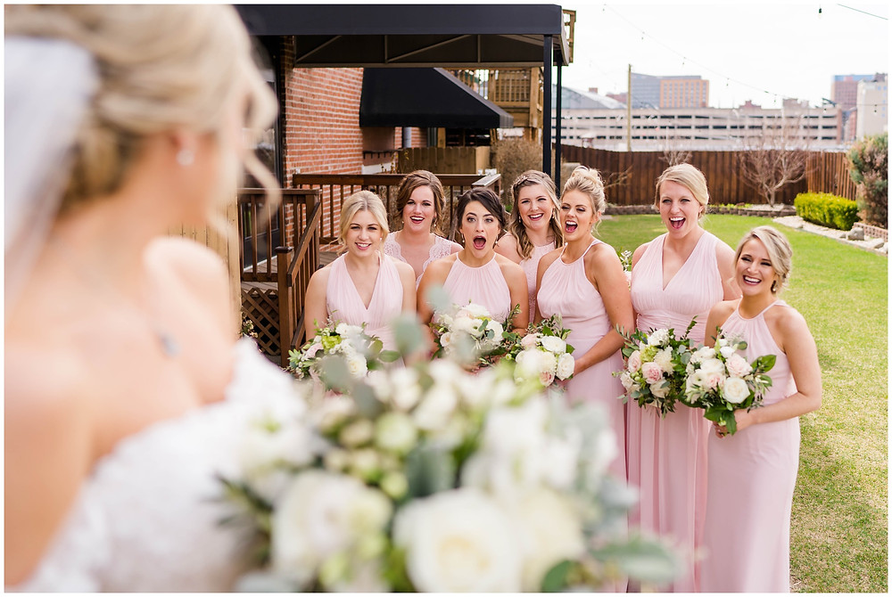 First-look-with-bridesmaids