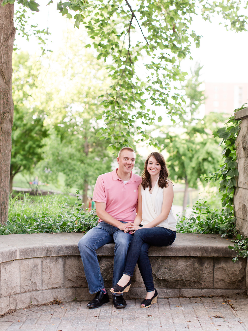 Indianapolis canal engagement pictures