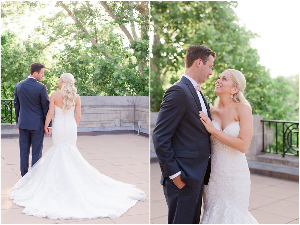 Sunset photos on wedding day
