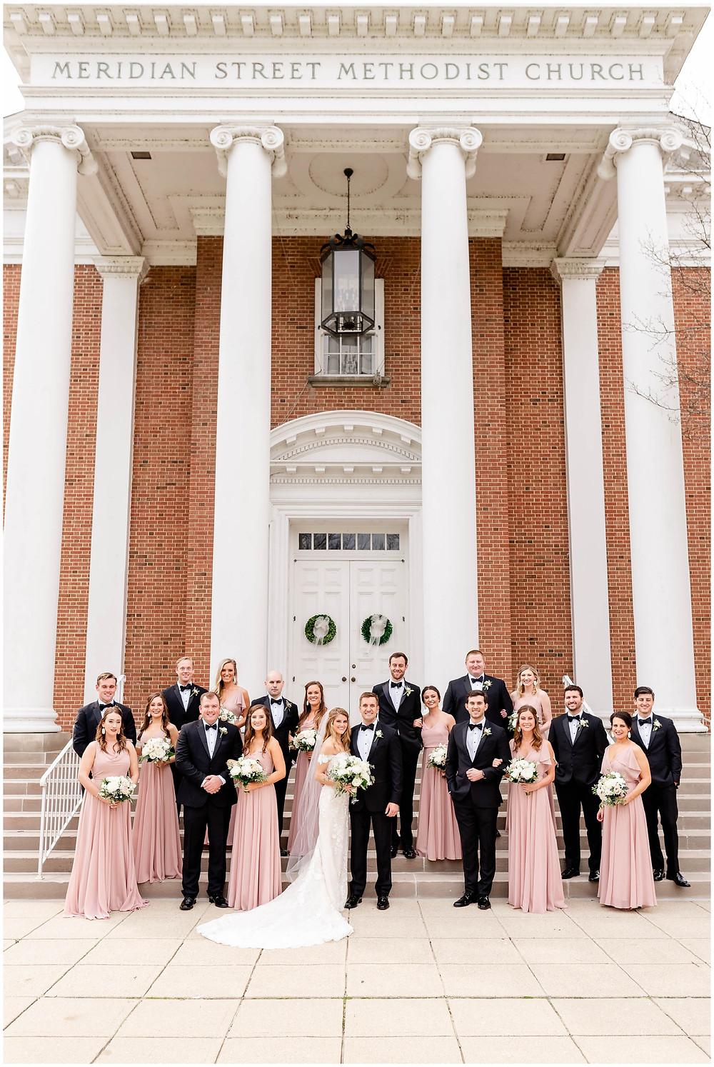 Bridal-Party-Meridian-Street-Methodist-Church